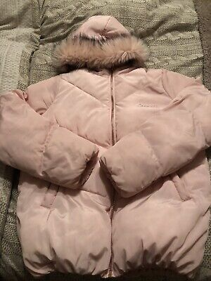 Girls Sonneti Puffa Jacket Age 13-15 years in Pale Pink and Rose Gold