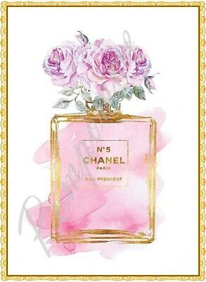 Coco Chanel Print Perfume Fashion Art Picture Wall Home Decor Bedroom Gift A4