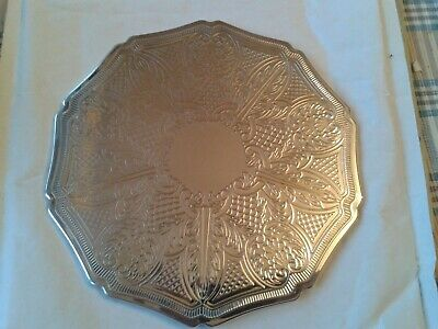 6 Lovely Decagon English Vintage Silver Plate Mats