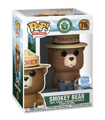 Funko Pop! Ad Icons: SMOKEY THE BEAR With Bucket Funko Shop Exclusive LE NIB