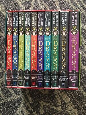 How to Train Your Dragon 10 book set by Cressida Cowell