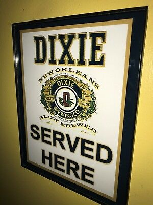 Dixie New Orleans Beer Bar Tavern Framed Advertising Print Man Cave Sign