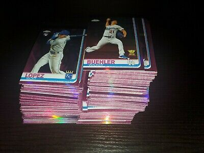 (142) 2019 Topps Chrome Update PINK REFRACTOR HUGE LOT W/ ROOKIE STARS SEE PIC