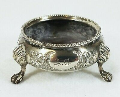 Large Antique English Sterling Silver Master Salt ROBERT HARPER London 1853