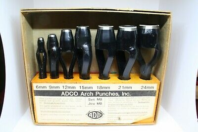 Adco Model M8 Arch Punch Set - Sizes: 6, 9, 12, 15, 18, 21 and 24 mm