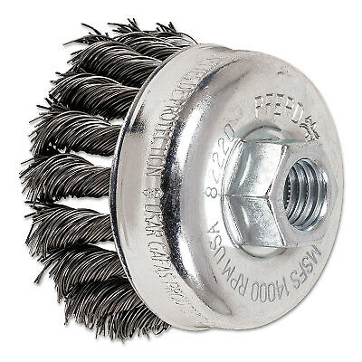 "2-3/4"" Knot Wire Cup Brush .020 Cs Wire 5/8-11 T 82220  - 1 Each"