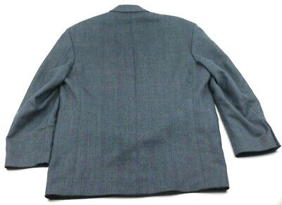 Ports International Mens Two Button Suit Jacket Multicolor 100% Wool Tweed XL