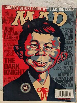 MAD MAGAZINE COVER PHOTO 8.5X11 BARACK OBAMA YES WE CAN/'T Sep 2008