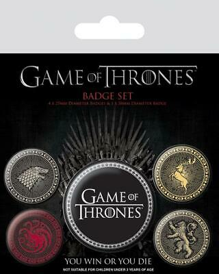 GAME OF THRONES - Pack 5 Badges - The Four Great Houses