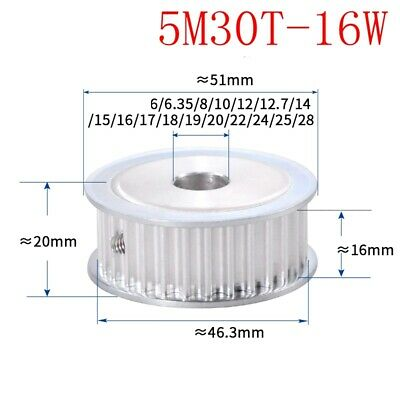 HTD 5M-15T-21W 5//6//6.35//8//10//12//12.7mm Bore Motor Timing Belt Drive Pulley 15T