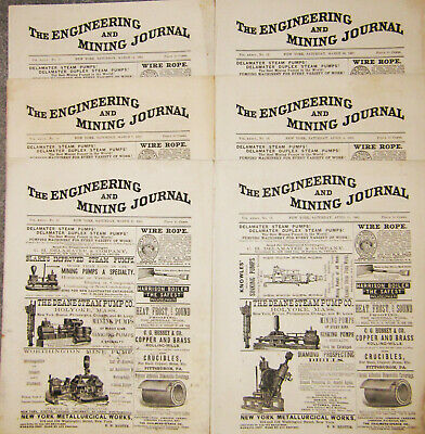 Engineering And Mining Journal 1885 Collection Journals Gold Silver Copper Mines