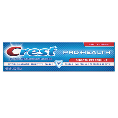 Crest Pro-Health Toothpaste, Smooth Peppermint, 4.6 Oz