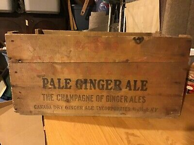 Vintage Canada Dry Pale Ginger Ale Wood Box Wooden Crate Champagne Of Ginger Ale