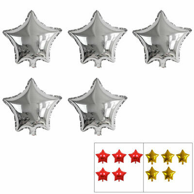 Foil Star Shape Balloon Birthday Wedding Party Decor 5 Inches 5 Pcs