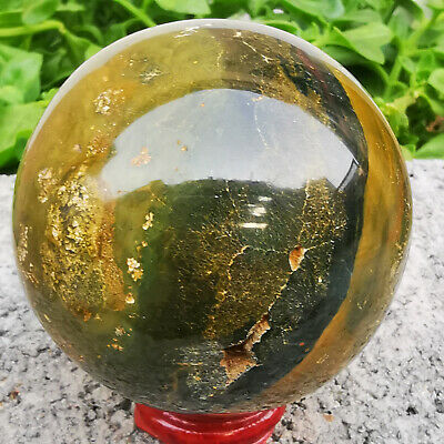 445g Natural Ocean Jasper Quartz Sphere Crystal miracle sea stone Ball Healing