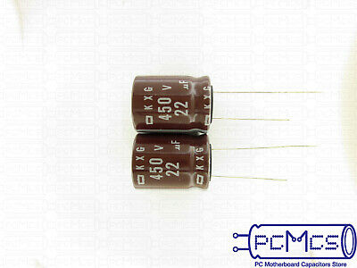 2 Pcs of Nippon ChemiCon NCC LXA Series 50V 15UF Low Impedance Capacitor 6x15