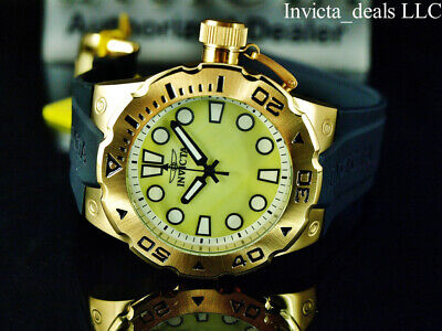 Invicta Mens 51mm Pro Diver Master Of The Oceans Quartz Champagne MOP Dial Watch