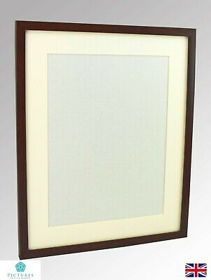 Walnut Photo Picture Poster Panoramic Frame Off White MOUNT 12x12-22x34 Inch A2