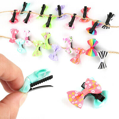 10/20/40X Bow Hair Clip Alligator Clips Girls Ribbon Kids Sides Boutique Bownot
