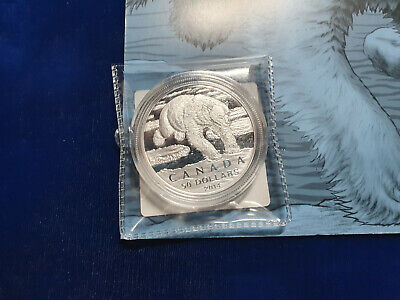 Canada - 2014 'Iconic Polar Bear $50 .9999 1/2 Oz Canadian Silver Coin