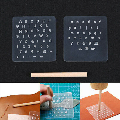 3 X Leather Stamping Craft Tools Capital Lowercase Set Punch Letter Alphabet Lot