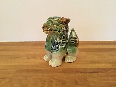Chinese Ceramic Foo Dog Figurine. Height 14 cm