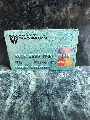VINTAGE EXPIRED MIAMI POLICE CREDIT UNION CREDIT CARD (raised numbers) (F)