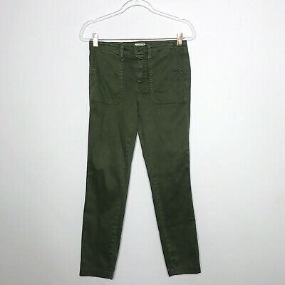 J Crew Womens Size 27 Skinny Stretch Cargo Pant Olive Green Ankle JCrew