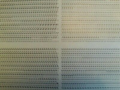 LETRASET Dry Rub On Transfers LETTERS/NUMBERS Italics 'ISOMETRIC' 2.5mm #IL4704
