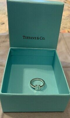 Authentic Tiffany&Co S/S T collection Ring Size 7