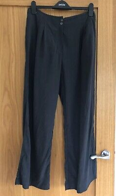 Beautiful Marks & Spencer Grey Silk Trousers Size 14.Never Worn.Like Toast