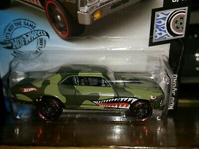 68 Chevy Nova 73 Camo Rod Squad 6 10 2020 Hot Wheels Case C