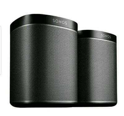 2- Speakers Sonos Play:1 Two Pack Home Speaker Wi-Fi Wireless System Set