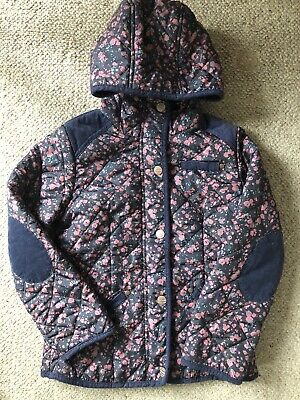Girls Next Padded Floral Coat EUC Age 7-8 Years