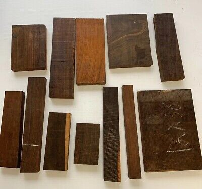 BEAUTIFUL! EXOTIC COCOBOLO WOOD  CUT-OFFS!   19  Pounds  box!   FREE SHIPPING!!
