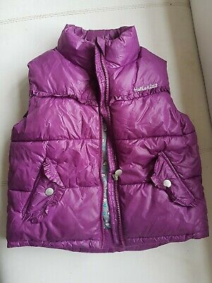 Girls gilet jacket. Hello Kitty purple. Size 7/8 years. Very good condition.