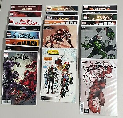 Absolute Carnage #1-5 run lot + Variants High Grade NM+