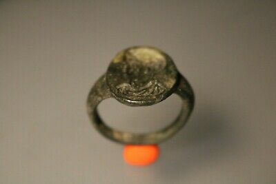 Ancient Fantastic Roman Bronze Ring  3rd - 4th century AD
