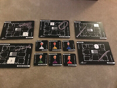 Cluedo Board Game Placemats/ Dinner Mats X5 Coasters X6 Hasbro