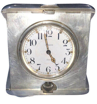 Antique Sterling Silver 8 Day Travel Watch/Clock From 1913