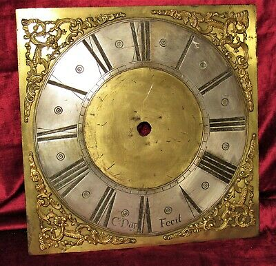 Great Early Brass Grandfather Clock Dial