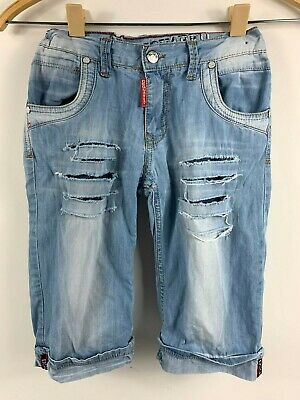 Boys DSQUARED2 Denim Shorts, Age 12 Years, Great Condition, Rips & Distressing