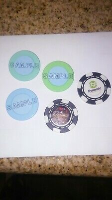 5 G2E Las Vegas Sample Casino Roulette Poker Advertising Chips