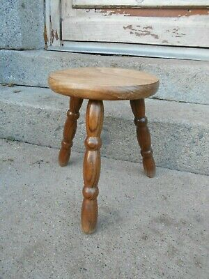 Vintage French 3 legged  stool/foot stool/plant stand