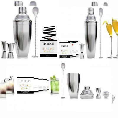 24 Ounce Cocktail Shaker Bar Set with 3 Piece Set, Stainless Steel