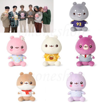 TWOTUCKGOM x MONSTA X 몬스타엑스 Sitting Plush Doll Toy Authentic Official KPOP Goods