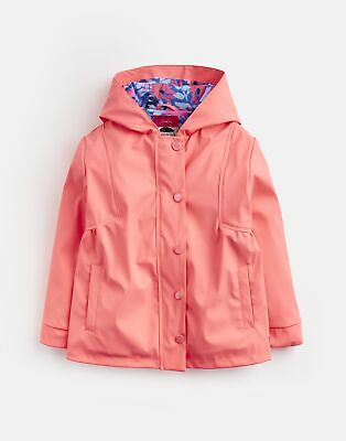 Joules Girls Rainbow Rubber Coat 1 6 Yr in PINK Size 1yr