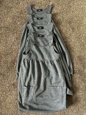 Girls Next Age 6 Years Grey Pinafore School Dresses x4