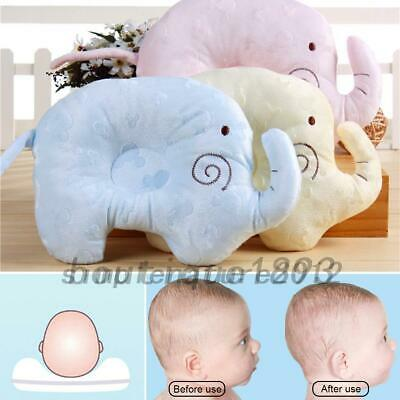 Baby Infant Memory Soft Pillow Prevent Flat Head Anti Roll Support Neck Comfort