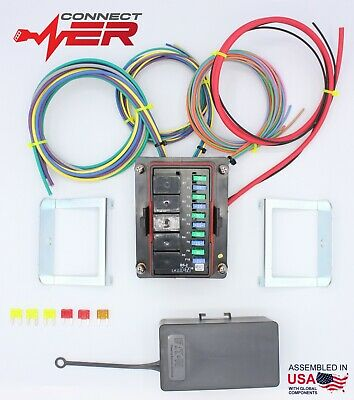 Waterproof Universal Off Road Relay & Fuse Power Distribution Center 8 ft Leads